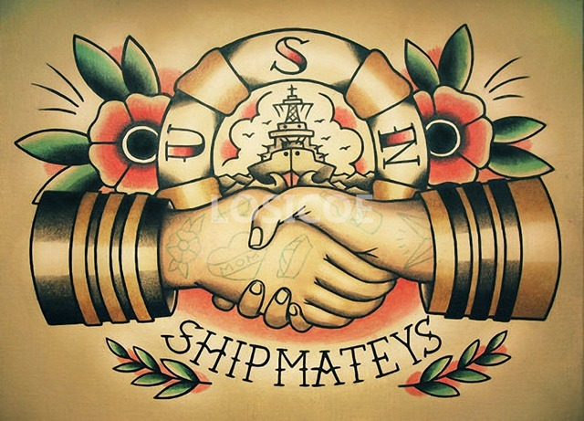 HIP MATEYS Retro Tattoos Patterned Posters Kraft paper Interior ...