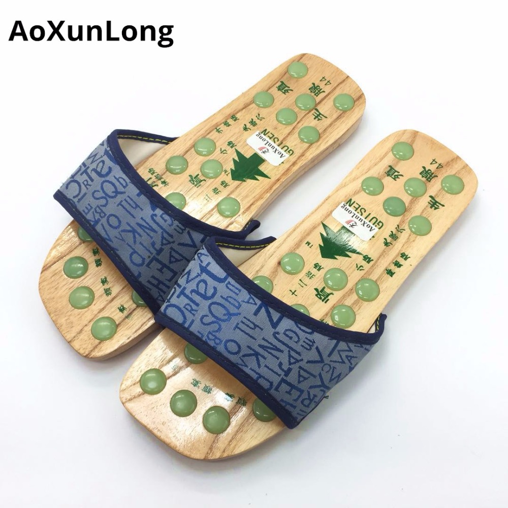 d0ba167da Detail Feedback Questions about Summer Men Slippers Imitation Jade Massage  Slippers Wood Flat Shoes Men Chinese Medicine Acupressure Healthy Slippers  Home ...