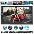 4 языков 7 дюймов Bluetooth Car MP4 Mp5-плеер 12 В Сенсорный Экран Поддержка Камеры Заднего вида/Auxin/TF/USB/FM Автомобиля радио Аудио Видео