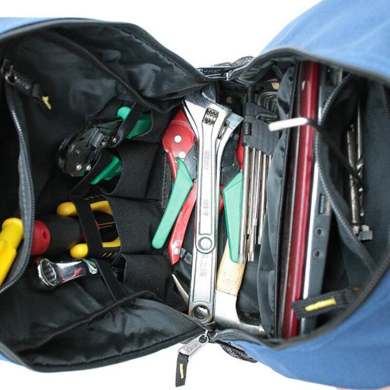 Купить с кэшбэком Tool Bag Shoulder Kit Multifunction Backpack Elevator Repair Kit Canvas Thickened Shoulder Bags