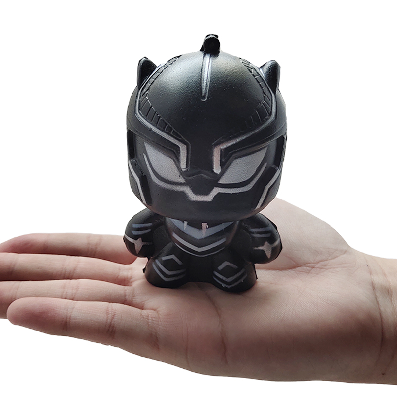Kawaii Marvel Black Panther Squishies Simulation Soft Slow Rising Scented Phone Straps Stress Relief Squeeze Toy Kid Gift Toy in Squeeze Toys from Toys Hobbies