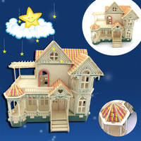 3D wooden model DIY puzzle toy baby gift hand work assemble wood game motor tricycle three wheels woodcraft construction kit 1pc