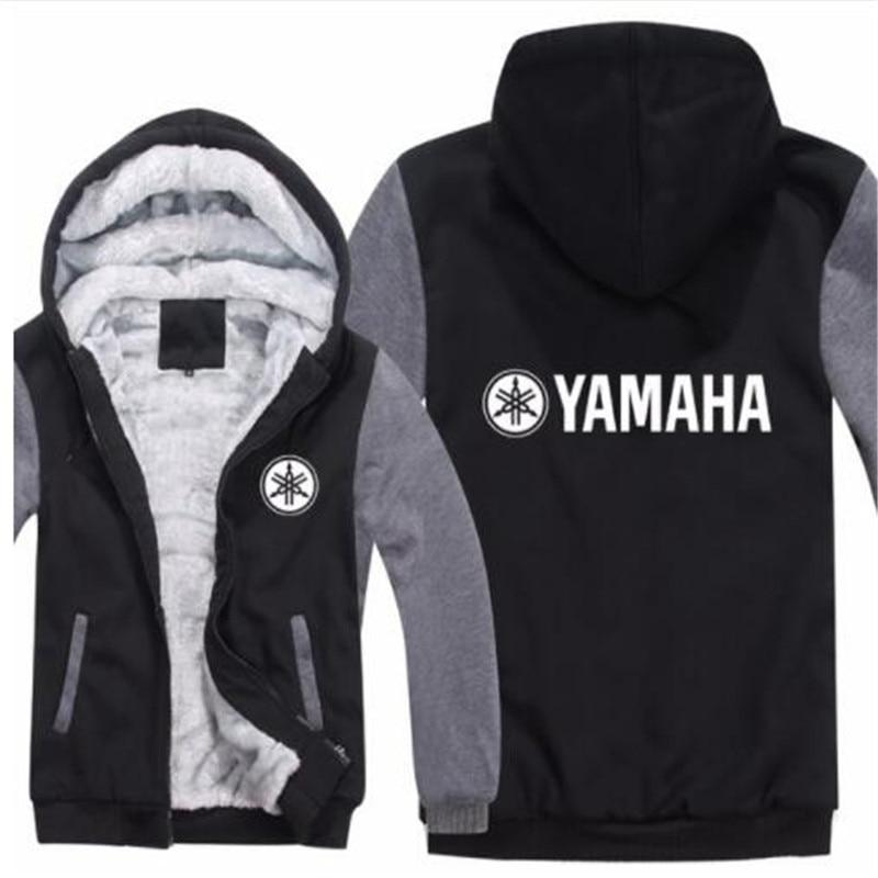 Yamaha Hoodies Jacket Winter Pullover Man Coat Men Fashion Wool Liner Fleece Unisex Yamaha Sweatshirts