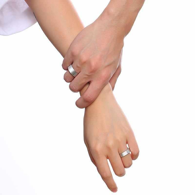 Бесплатная пользовательское имя Любовь Обручальные кольца для женщин Человек никогда не выцветает Серебряный тон нержавеющая сталь любовное обещание Anel подарки для пары