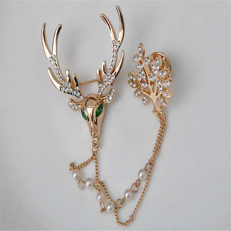 2018 good quality jewellery for girls and party! deer brooches Full Shining Brooches for wedding Girl