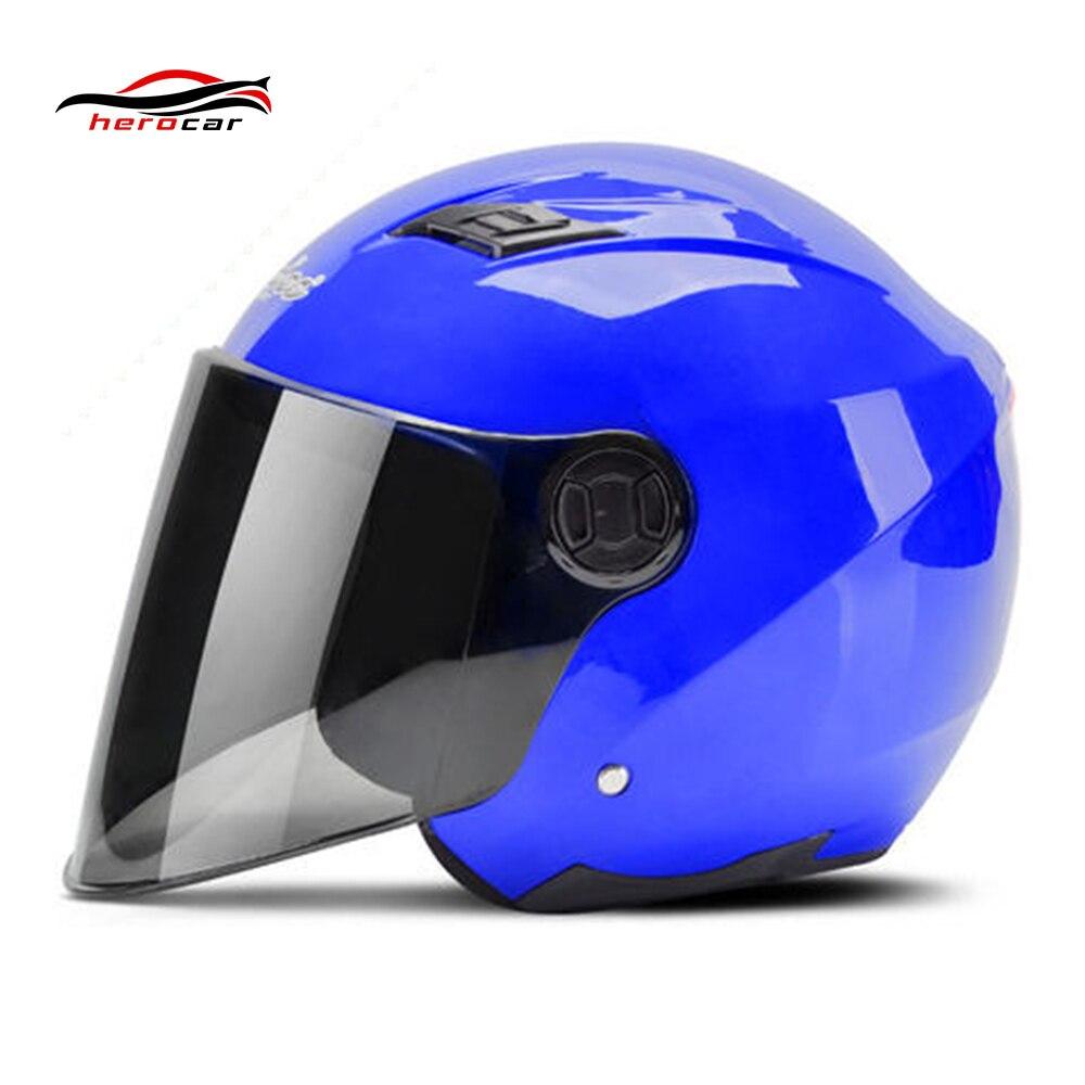 Motorcycle Helmet 3/4 Open Face Helmet Capacete Scooter Casco Moto Motorbike Modular Flip Up Helmet With Lens LED Light Casque