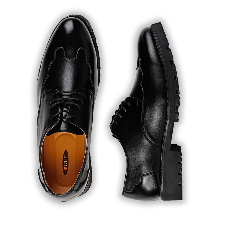 Preto Qualidade Dedo Brogue Casamento Chegada Novos Bonito De Sapatos 2017 Apontado Flats Oxfords Vestir Homens Alta Negócios wPzxqa