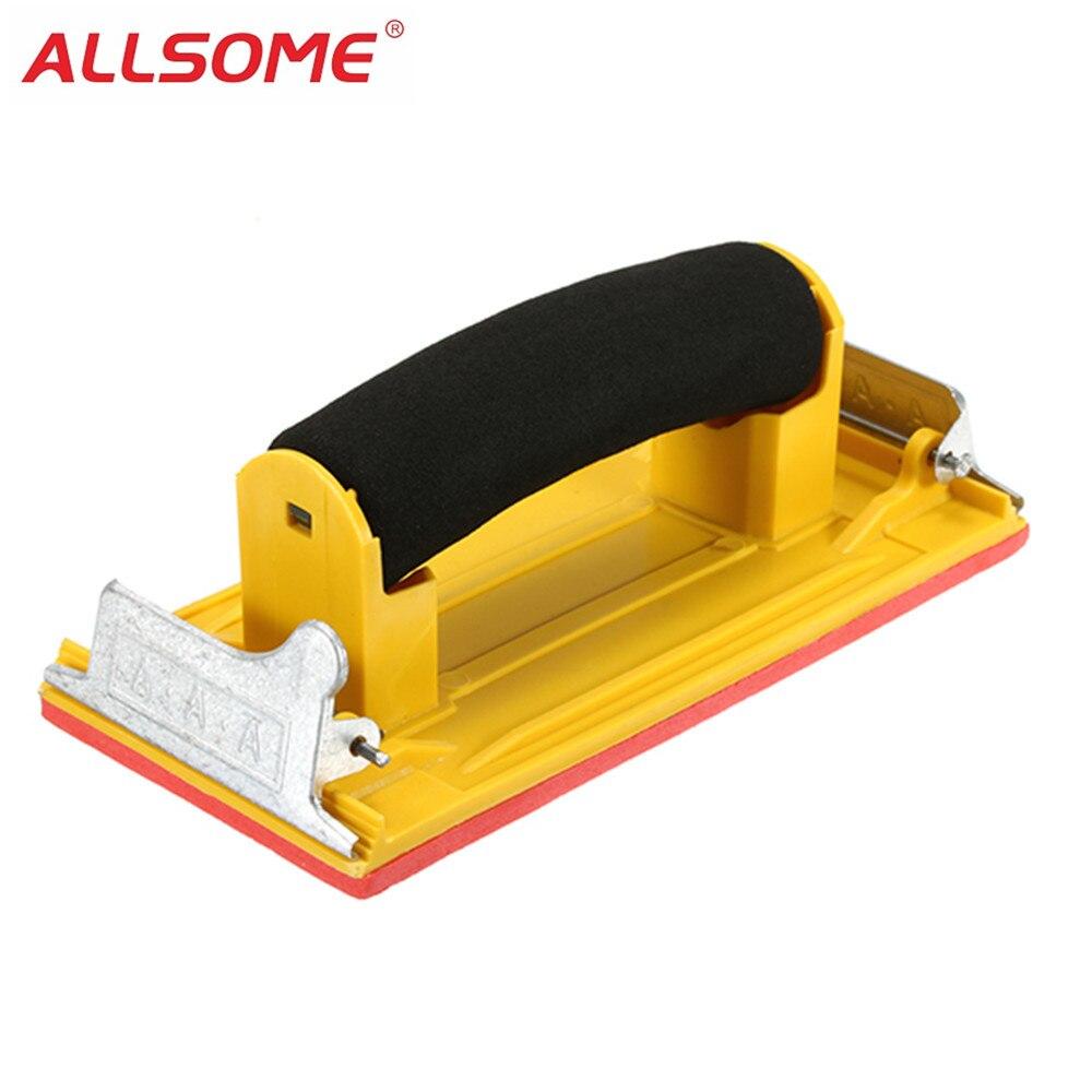 ALLSOME Hand Woodworking Paint Sandpaper Frame Sandpaper Holder Clip Tool For Polishing Sanding Abrasive Tools HT1698