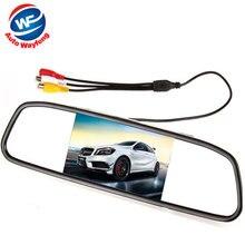Автомобиль HD Видео Автопарк Монитор, LED Ночного Видения Заднего Вида CCD Автомобиля Камера Заднего вида С 4.3 дюймов Автомобиль Зеркало Заднего Вида Монитор