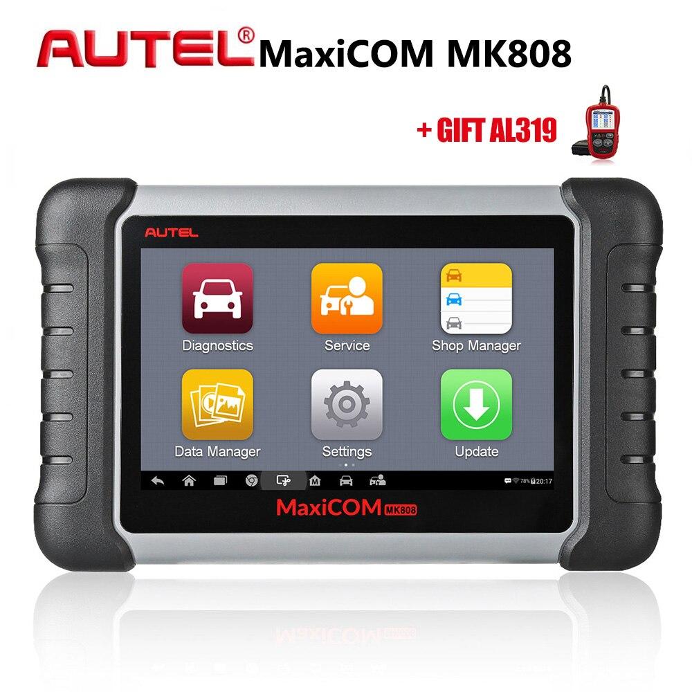 MaxiCOM MK808 Autel Ferramenta de Diagnóstico Do Carro Todo o Sistema OBD Ferramenta De Diagnóstico do Scanner Automotivo Ferramentas de Verificação de Leitor de Código de Auto Original