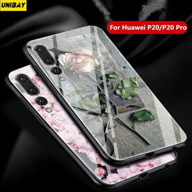 Huawei p20 Pro Case 9h anti-explode huawei p20 lite case Shock-proof for huawei nova 3e p20 Tempered glass back Cover