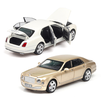 1:24 Mulsanne Musical Lighting Machine Diecasts Toy Vehicles Hot Wheel Car Model With Car Hot Wheel Doors Can Be Opened Toy