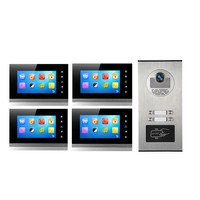 7 Polegada tela intercoom com fio telefone video da porta XSL-V70KM-530-4