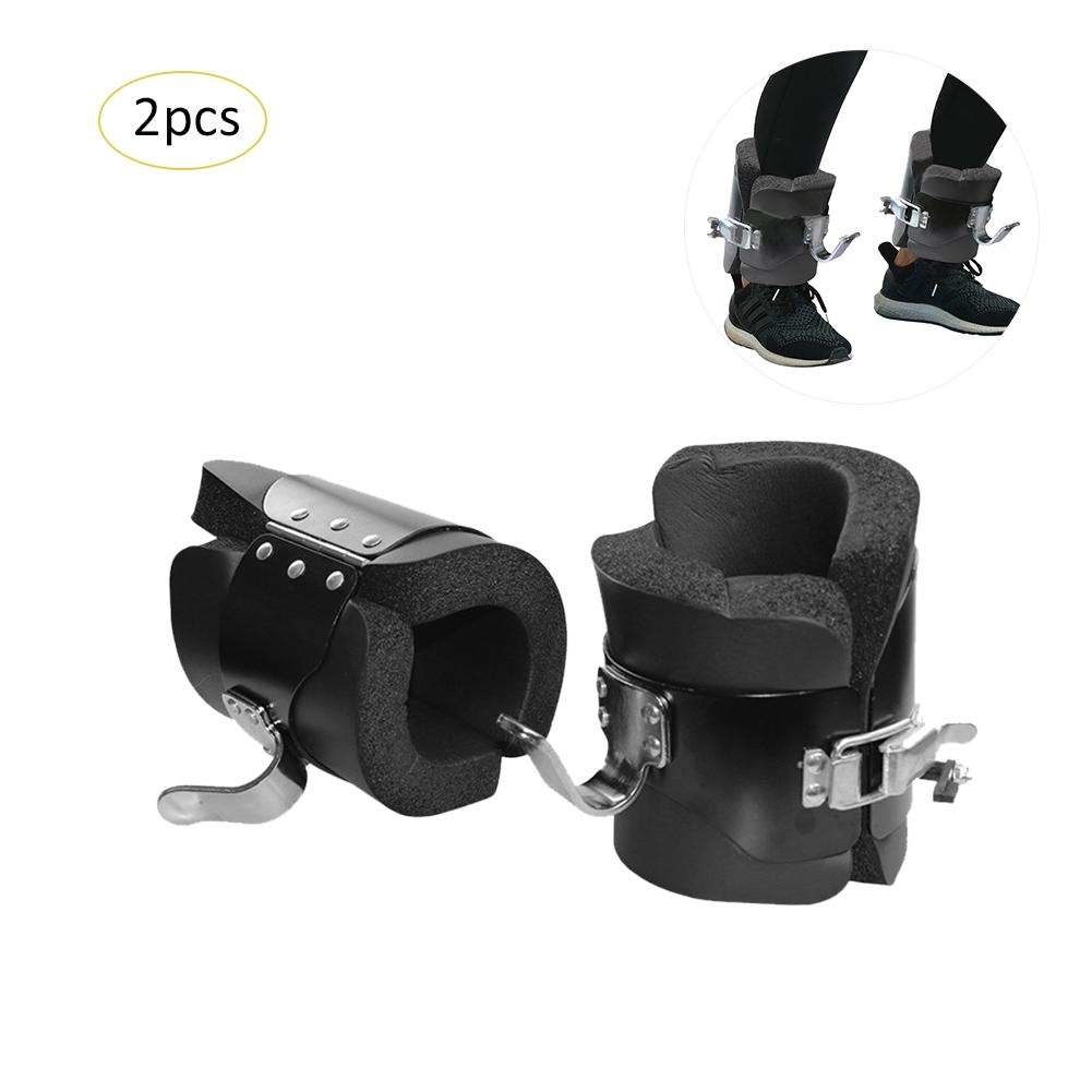 Inversion Foot Cover Machine Boots High Decompression Abdominal Exercises Black Anti Gravity Inversion Hang Up Boots