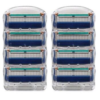 Camada de Lâmina de Lâmina de Barbear para Homens Barbeador Cuidados Faciais 5 Compatível com Gillettee Fusione 8 pçs/caixa