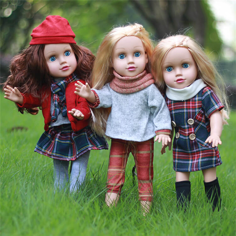 45CM/17.72in Baby Simulation Dolls of Vinyl Cute Pacifying Doll Blink Girl Dolls Emulate ...