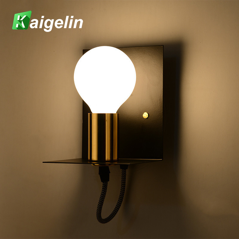 Modern Vintage Retro LED Wall Light Industrial Iron Luminaire Wall Lamp E27 LED Sconce W ...