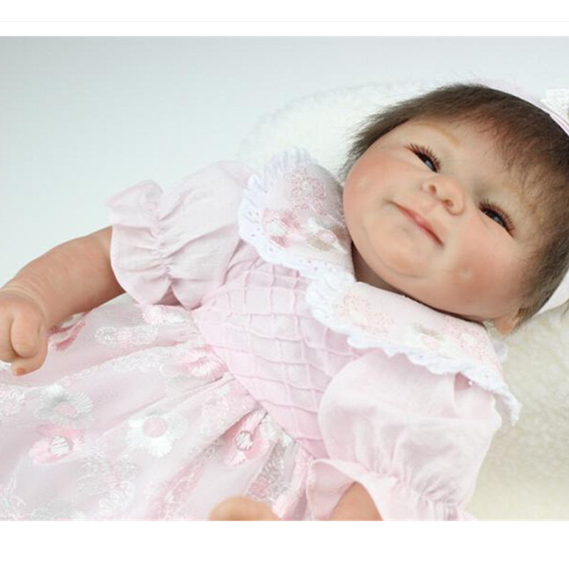 45cm  Fashion Silicone Reborn Dolls Babies Vinyl Doll Toy for Children Birthday Gift,18 Inch Lifelike Baby Reborn Doll hot newest 18 inch handmade vinyl doll bjd doll with dress beautiful princess doll toy for children christmas gift