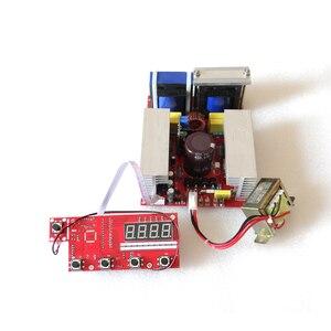 Generador de energía ultrasónico 40K600W 220V y tablero de visualización y transductor de 10 Uds 40khz 60w