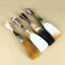 Classy Ox Horn Chinese Calligraphy Brush Pen Multiple Hairs Hopper-shaped Brush Weasel Hair Chinese Calligraphy Painting Brushes все цены