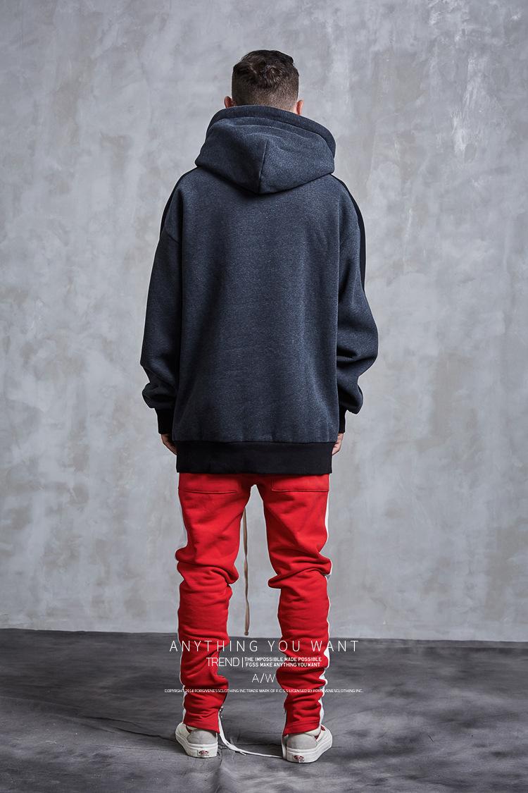 Aolamegs Hoodies Men Side Striped Hood High Street Pullover Cotton Fashion Hip Hop Streetwear Casual Big Pocket Hoodie Autumn (28)