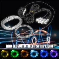 Waterproof 5M Neon Light 12V DC Flexible Neon EL Wire Rope Tube LED Strip Light 5050