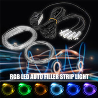 Waterproof 5M Neon Light 12V DC Flexible Neon EL Wire Rope Tube LED Strip Light 5050 SMD For Christmas Dance Party Decor