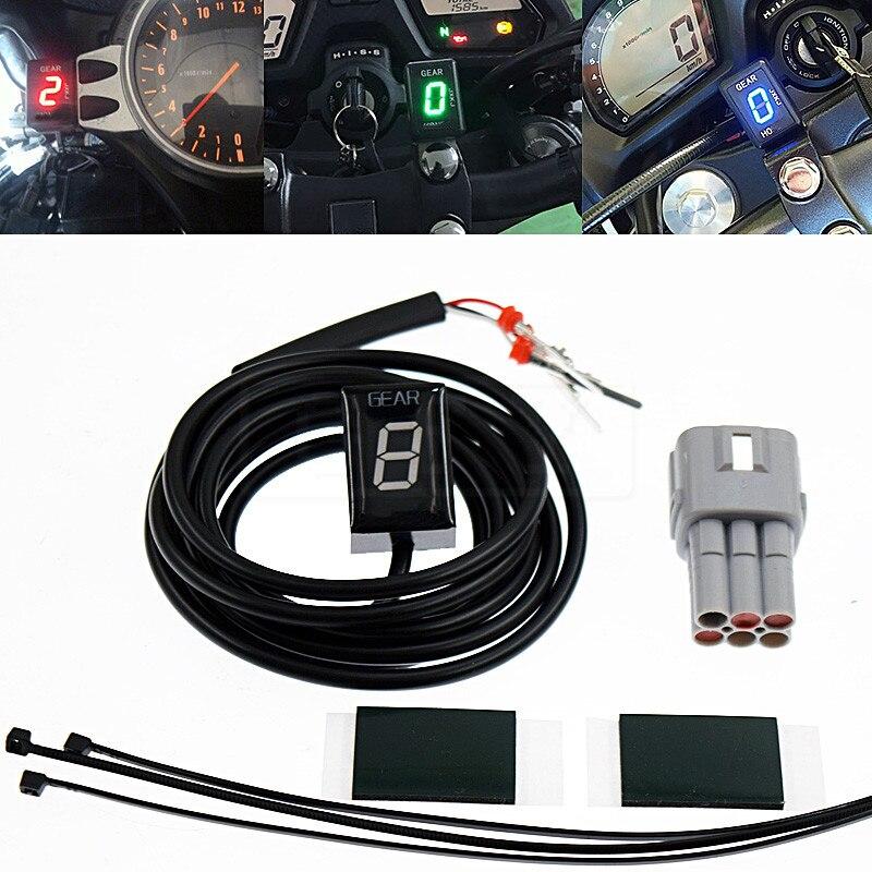 Motocicleta LCD Eletrônica 6 Velocidade 1-6 Nível Indicador de Marcha Digital de Engrenagem medidor Para Suzuki SV650 2003-2014 SV1000 SV 650 1000