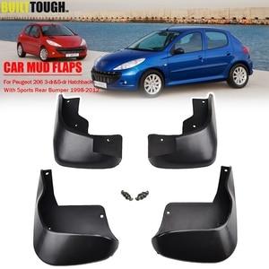 Image 1 - Spatlappen Voor Peugeot Naza 206 Bestari 1998   2012 Spatlappen Splash Guards Spatborden Voor Achter 1999 2000 2001 2002 2011 2010