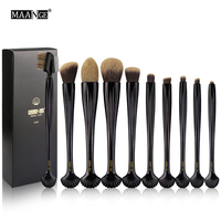 Pro 10pcs Shell Makeup Brush Eyeshadow Brushes Set Powder Foundation Eye Lip Tool Kits Face Concealer