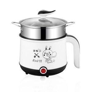 Image 2 - Мини рисоварка, 220 В, электрическая машина для приготовления пищи, в наличии один/два слоя, многофункциональная электрическая рисоварка с горячим горшком, ЕС/Великобритания/Австралия/США