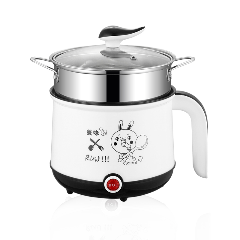 Image 2 - 220V Mini Multifunction Electric Cooking Machine Single/Double Layer Available Hot Pot Multi Electric Rice Cooker EU/UK/AU/US-in Multicookers from Home Appliances
