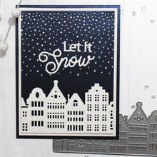 Eastshape Architecture metal cutting dies merry christmas stitch  die stencil elmers troqueles template for painting