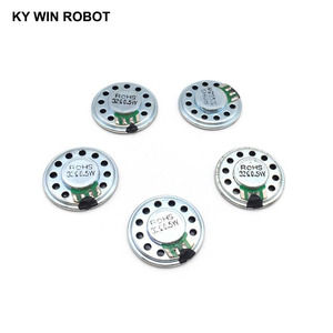 Image 5 - 5 sztuk/partia nowy ultra cienki Mini głośnik 32 ohm 0.5 watt 0.5W 32R głośnik średnica 27MM 2.7CM grubość 5MM