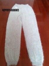 Mannen Winter Mink Cashmere Gebreide Leggings/Broek Dikke Warme Broek Big Size Gratis Verzending JN234
