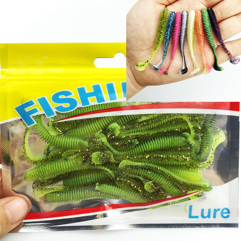 30PCS New hot sale Lure spiral T fish soft bait softbaits artificial baits weest blackfish culter Striped bass fishing gear tool best price mgehr1212 2 slot cutter external grooving tool holder turning tool no insert hot sale brand new