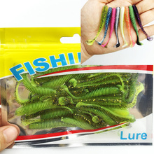 30PCS New hot sale Lure spiral T fish soft bait softbaits artificial baits weest blackfish culter Striped bass fishing gear tool