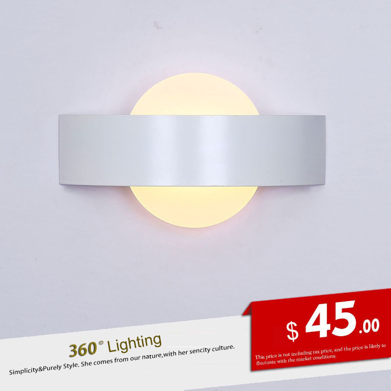 Led wall lamp bedroom bedside acrylic wall lamp hotel engineering lamp simple modern creative balcony bedroom bedside lighting modern minimalist acrylic wall lamps smd led creative circle wall lights bedroom bedside lighting corridor balcony stairs lamp