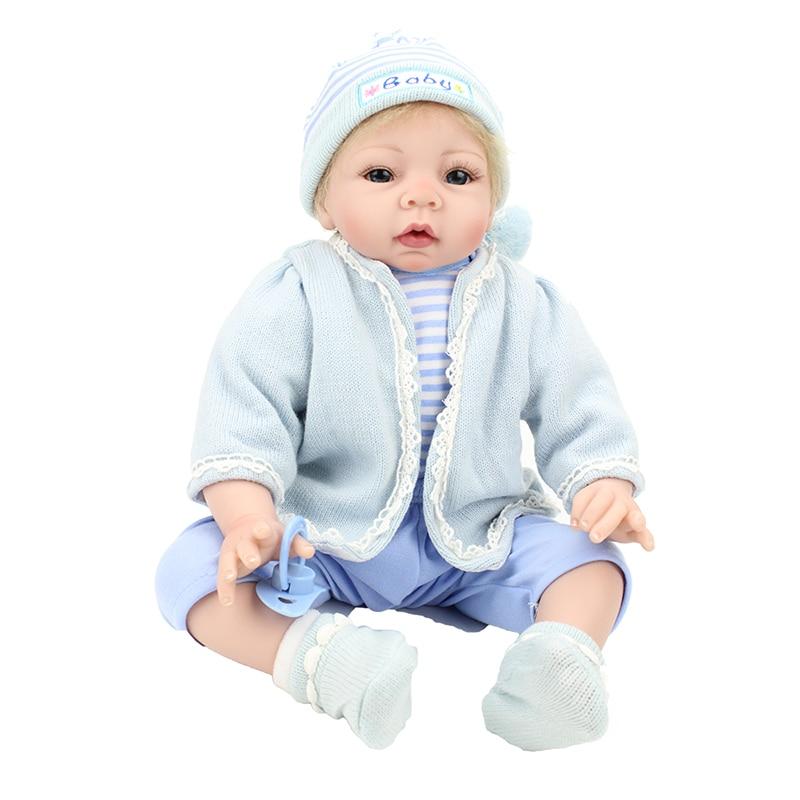 22 NPK silicone reborn dolls for sale Lovely  Reborn baby boy doll for children bebe Gift Bonecas Brinquedos22 NPK silicone reborn dolls for sale Lovely  Reborn baby boy doll for children bebe Gift Bonecas Brinquedos