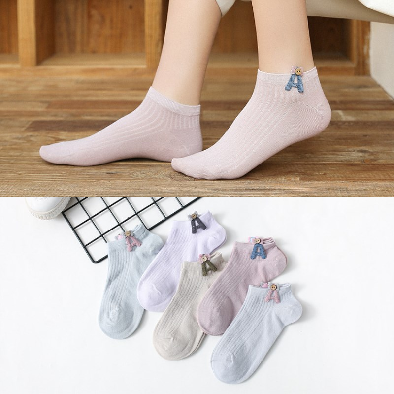 Cute pure color cotton ladies socks simple casual socks 50 pairs wholesale