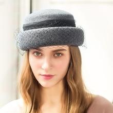 100% Australia lana sombreros 2018 Otoño e Invierno Vintage fieltro  Festival fiesta de boda de las mujeres ce4080c0f55