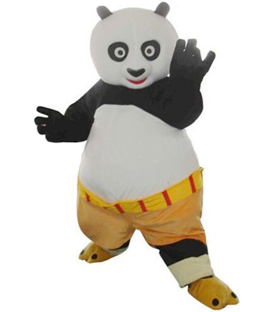Бесплатная доставка, горячая Распродажа, кунг-фу Панда, маскарадный костюм кунг-фу Панда, маскарадный костюм кунг-фу Панда + картонная голов...