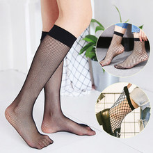 1eac04ae2f3 2017 New Arriavl Sexy fashion women highly stretchable hot sale one size  solid black breathable fishnet socks