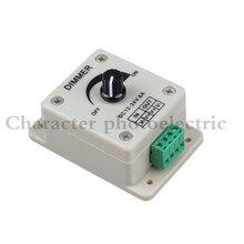LED Dimmer DC12V~24V 8A Manually Rotation Switch Controller for Strip.