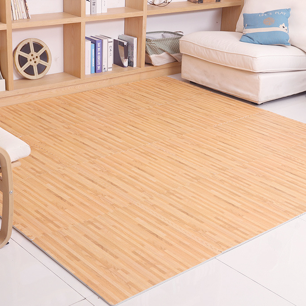 Yazi 9PCS New Puzzle Mat Wood Print Color EVA Grain Pad Kitchen Foam Cushion Pieced Carpet Home Decoration 30X30cm In From Garden On