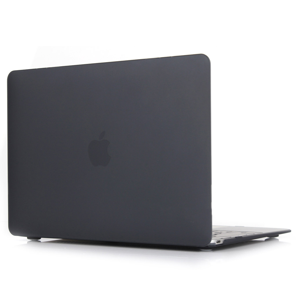 Clear Matte Rubberized Hard Case Cover for Macbook Air 13 inch Laptop Shell Black
