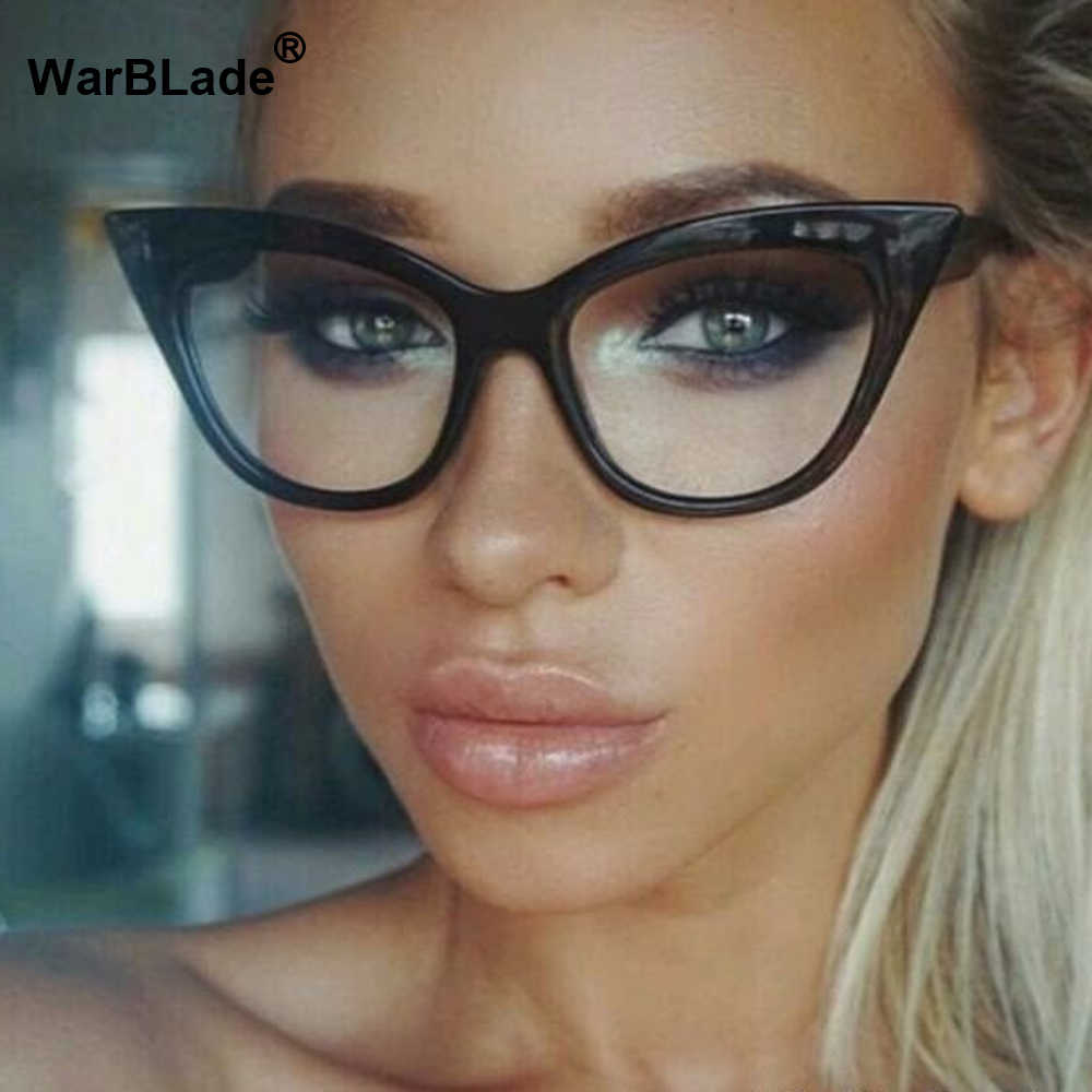 Vintage Wanita Kacamata Cat Eye Batal Kacamata Bingkai Mewah Merek Desain Kacamata Perempuan Frame Kacamata Optik Bingkai Tontonan