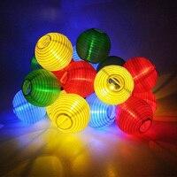 Luminarias LED Güneş Işıkları LED Güneş Paneli Fener Dize Işık Yolu Duvar Lambaları Ev Bahçe Noel Ağacı Dış Dekorasyon