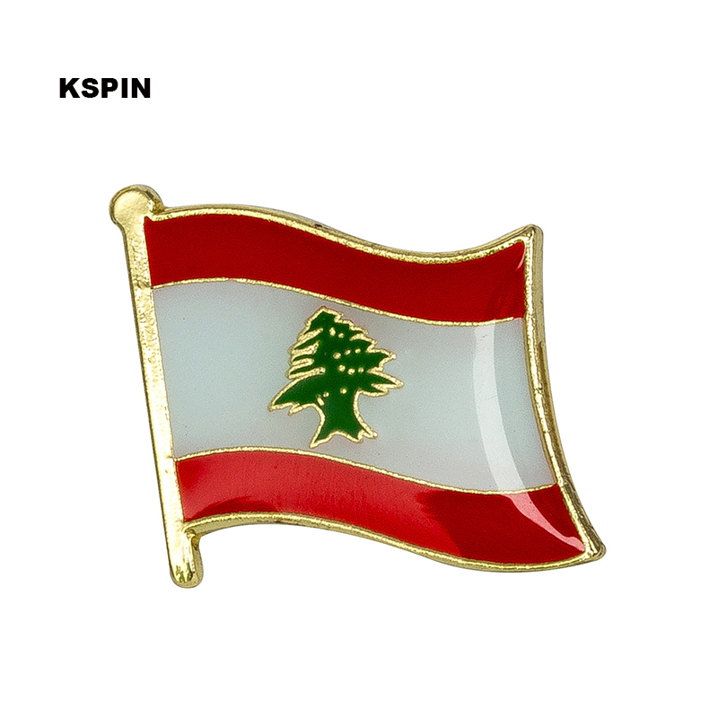 US $1 59 20% OFF|Lebanon National Flag Metal Pin Badge Decorative Brooch  Pins for Clothes KS 0102-in Brooches from Jewelry & Accessories on