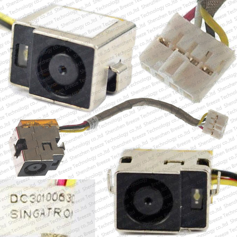 5pcs/lot Genuine New Laptop DC Power Jack cable Socket Harness For HP DV3 -2000 CQ35 CQ36 DC301006300 DC301006C00 Free Shipping купить в москве телевизор самсунг ue 40d5000rw